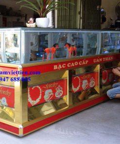 mẫu tủ trưng bày vàng bạc