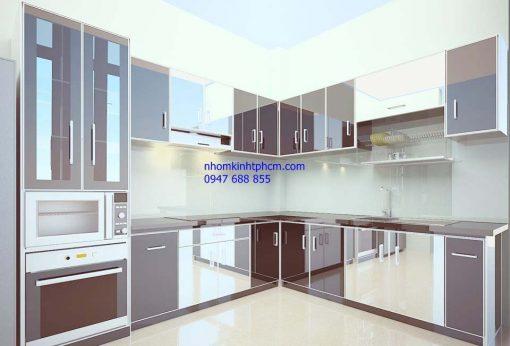 Tủ bếp nhôm kính đẹp giá rẻ tphcm