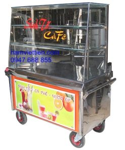 Xe bán cafe sinh tố inox