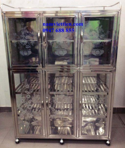 Tủ đựng chén bằng inox giá rẻ